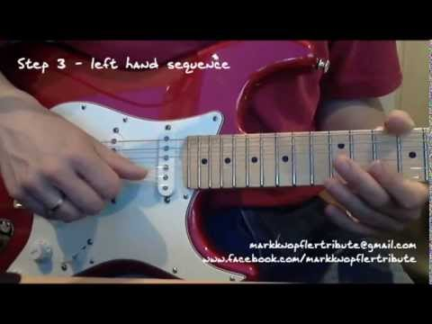 """(tutorial) Learn to play the """"Sultans of Swing"""" end solo riff in 10 minutes"""