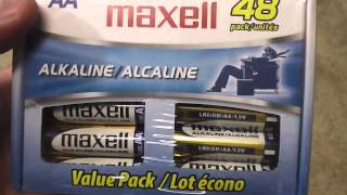 Maxell 48 Pack AA Battery Review