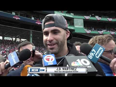 Video: J.D. Martinez ahead of Red Sox 2018 World Series victory parade