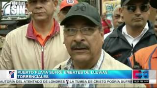 Inundaciones continúan causando estragos en Puerto Plata