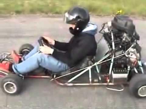 kart con un motore yamaka r1