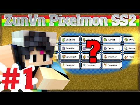 ZunVn Stream Pixelmon Tập 1 - Chọn Pé Pixelmon Nào Đây ?