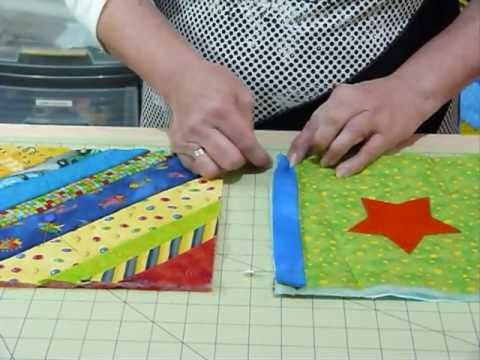 How to join up Quilt as you Go blocks and borders Quilting Tips & Techniques 074 Gourmet ...