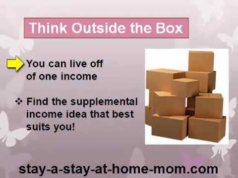 supplemental income ideas for stay at home moms
