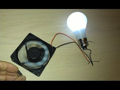 energy - This system of free energy fan rotation of magnet motor is used as free energy generator for lighting of bulb. For construction were used CPU fan, thin magnets and led lighting bulb. Explained...