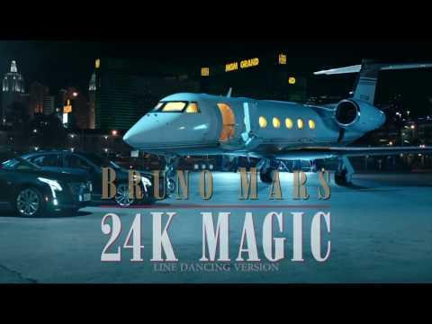bruno mars 24k magic - line dancing version