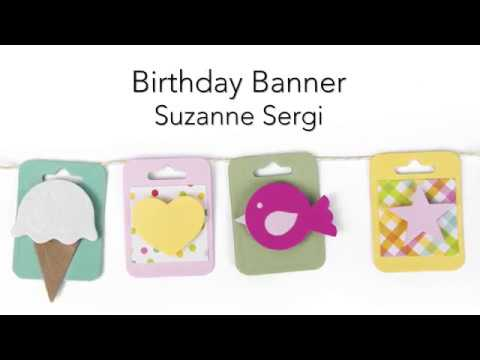 DIY Birthday Mini Banner | Lori Whitlock | Sizzix
