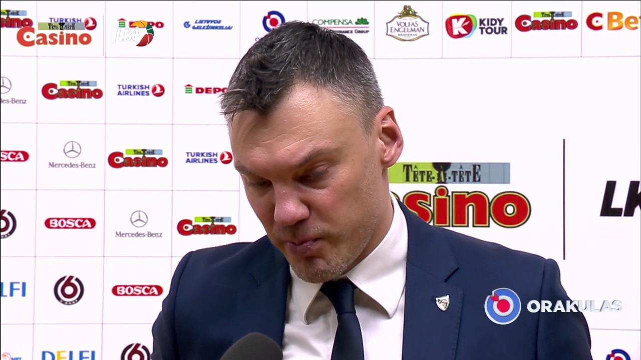 """Š. Jasikevičius: """"Mes ir tikėjomės tokių rungtynių"""""""