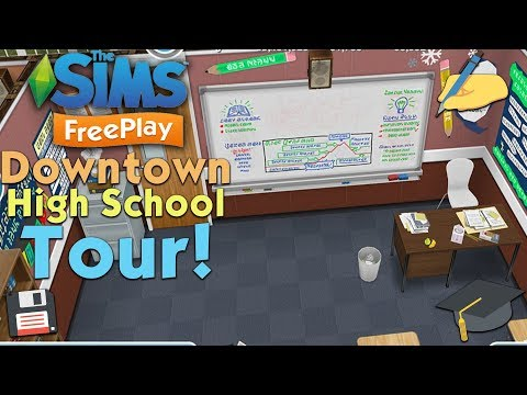 The Sims Freeplay: Downtown High School 🏫   Tour!