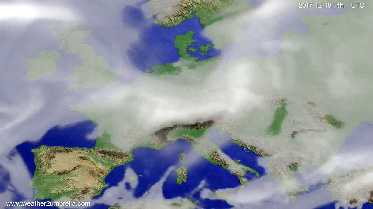 Cloud forecast Europe 2017-12-14