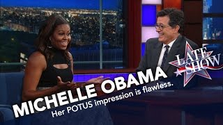 Video First Lady Michelle Obama Does Her Best Barack Impression MP3, 3GP, MP4, WEBM, AVI, FLV Juli 2018