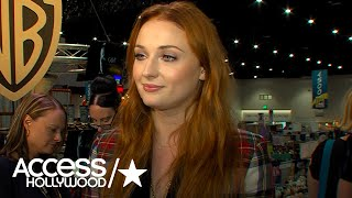 """Before the """"Game of Thrones"""" autograph signing at the Warner Bros. booth on the Comic-Con floor, Sophie Turner chats with..."""