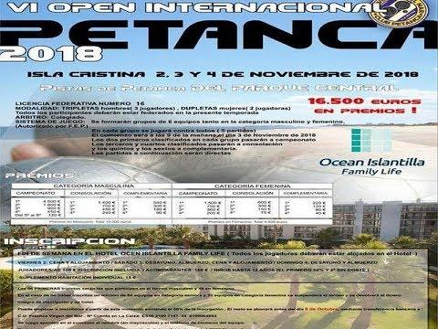 Fase final Open Internacional de Petanca Celebrado en Isla Cristina