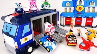 Video Stop the dinosaurs' egg bombs! Go Superwings and robocar poli's mobile headquarters! - DuDuPopTOY MP3, 3GP, MP4, WEBM, AVI, FLV Juli 2018