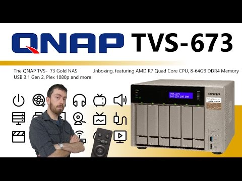 The QNAP TVS-673 Gold NAS AMD 6-Bay Unboxing Video - Is this the best Plex NAS I have seen yet