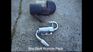 10. Sno-Stuff Rumble Pack on Polaris RMK 700 (stock vs. aftermarket)