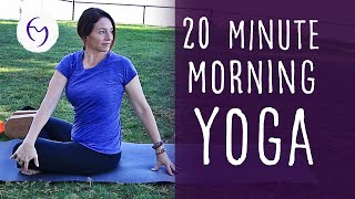 Video 20 Minute Morning Yoga With Fightmaster Yoga MP3, 3GP, MP4, WEBM, AVI, FLV Maret 2018