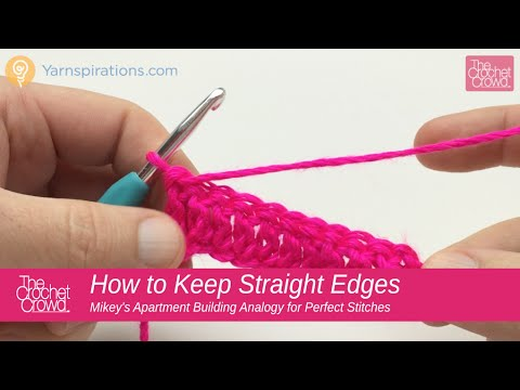 How to Crochet: How to Crochet Straight Edges Tips Double Crochet (видео)
