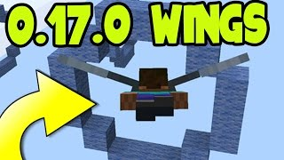 "MCPE 1.0 UPDATE GAMEPLAY ""ELYTRA WINGS"" FLY CHALLENGE - ELYTRA WINGS - Minecraft Pocket Edition 1.0"