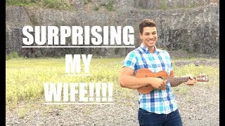 I wrote a song for my wife, found a sick location, told her I needed her help filming a cover, and then sang it for her! Hope you ...