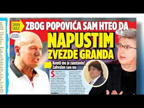 Skandal novine: Šaban Šaulić – hteo sam da napustim Zvezde granda, Mimi Oro krije da je radila na pijaci, Bora – Ceca mi neće nedostajati
