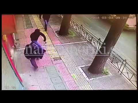 Πατησίων: Η επίθεση από κάμερα ασφαλείας καταστήματος