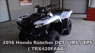 8. 2016 Rancher 420 Automatic DCT / IRS / EPS ATV SALE - Honda of Chattanooga TN (TRX420FA6G)