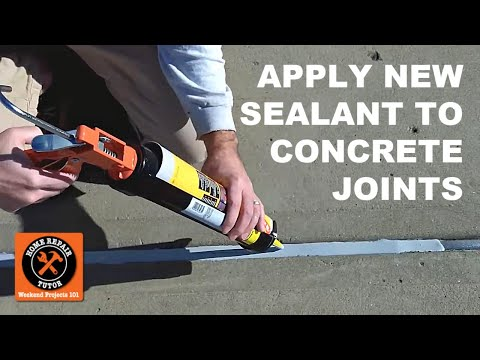 Concrete Expansion Joints Part 2-Apply New Watertight Sealant - by Home Repair Tutor