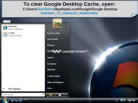 Maxtor BlackArmor - How to Clear Cached Data from Google Desktop