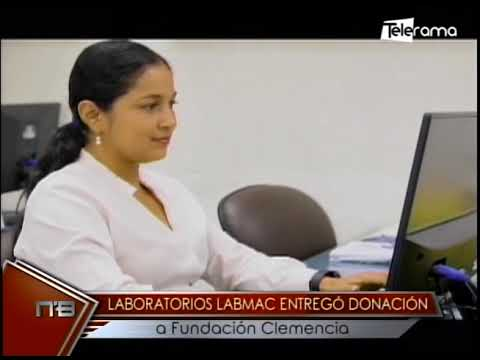 Laboratorio Labmac entregó donación a fundación Clemencia