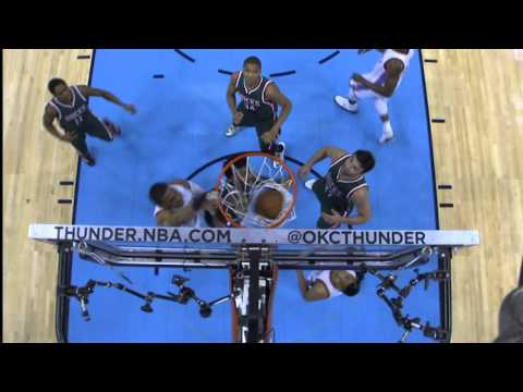Video: Russell Westbrook Climbs the Ladder for the Ferocious Follow