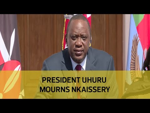 President Uhuru mourns Nkaissery (видео)