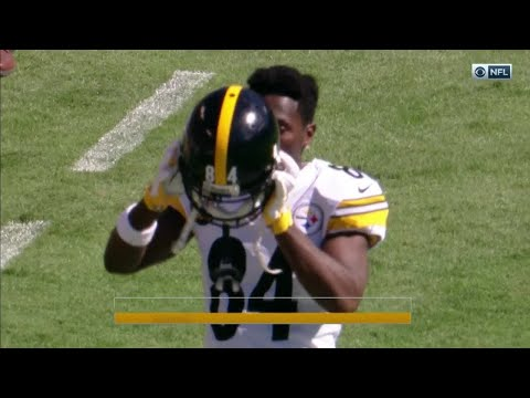 Video: Angry Antonio Brown Tosses Cooler on the Sideline! | Steelers vs. Ravens | NFL Wk 4