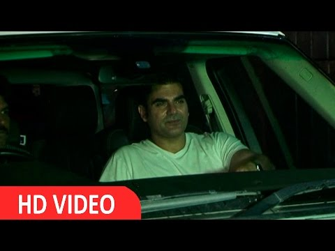 Arbaaz Khan & Luliya Spotted At Salmaan House