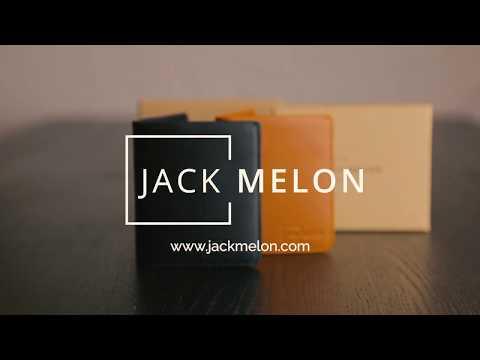 Jack Melon Coal Portemonnaie für Herren | Slim Wallet aus Vollnarbenleder mit RFID Schutz