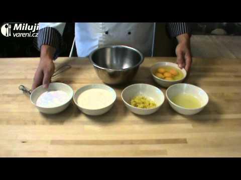 Citronový koláč se smetanovou náplní