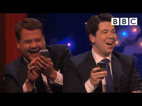 All! - Programme website: http://www.bbc.co.uk/programmes/b041c55d Michael and James Corden look through each others phone contacts as they prepare to send a very e...