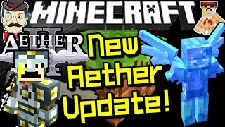 Minecraft NEW AETHER! Companions, New Items, Dungeons&More! World in the Sky!
