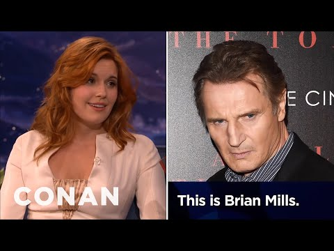 Maggie Grace: Liam Neeson Prank-Called My Ex-Boyfriend  – CONAN on TBS