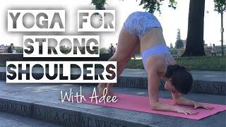 Video Build Strength for Arm Balances [Yoga w/Adee] MP3, 3GP, MP4, WEBM, AVI, FLV Maret 2018