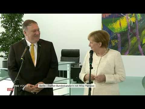 Statements von Angela Merkel und Mike Pompeo am 31. ...