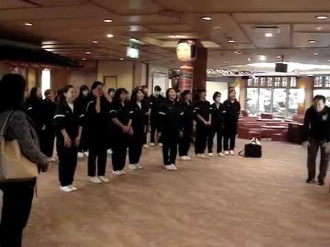 岐阜大学教育学部附属中学校合唱部の皆様の合唱(2泊目)