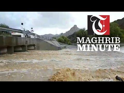 A Heavy rain in Yanqul near Al Hajar Mountains resulted in overflowing wadis yesterday,