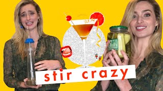 Crying Because Actress Allegra Edwards Legit Drank an Oat Milk & Pickle Juice Cocktail | Stir Crazy by Cosmopolitan