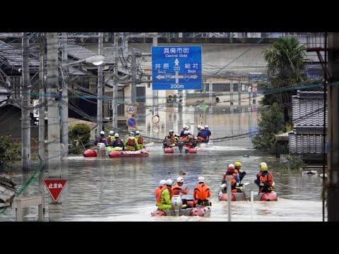 50.000 Helfer im Einsatz: Über 110 Tote nach Unwettern in Japan