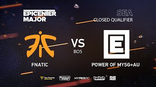 MYSG vs Fnatic, EPICENTER Major 2019 SA Closed Quals , bo5, game 5 [Lex & 4ce]