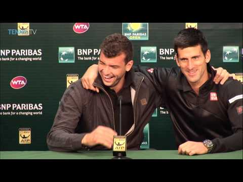 Novak Djokovic interrupts Grigor Dimitrov's press conference