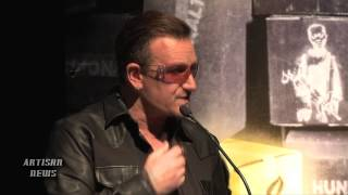 U2 BONO AND EX PINK FLOYD ROGER WATERS JOIN BELAFONTE FOR AMNESTY AMBASSADOR OF CONSCIENCE