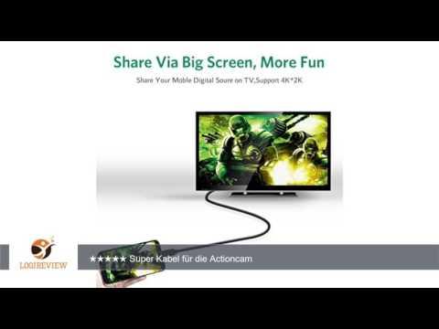 Ugreen Micro HDMI auf HDMI High Speed Kabel mit Ethernet Vergoldete Kontakte Unterstützung 1080p