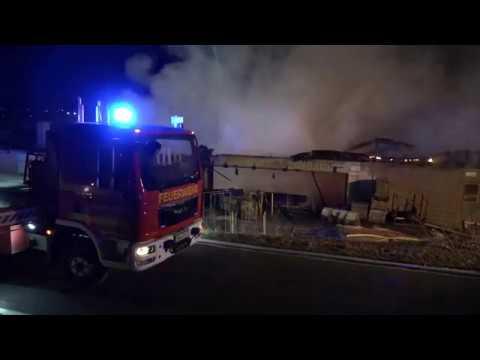Urbach (Gemeinde im Remstal): Großbrand im Sägewerk